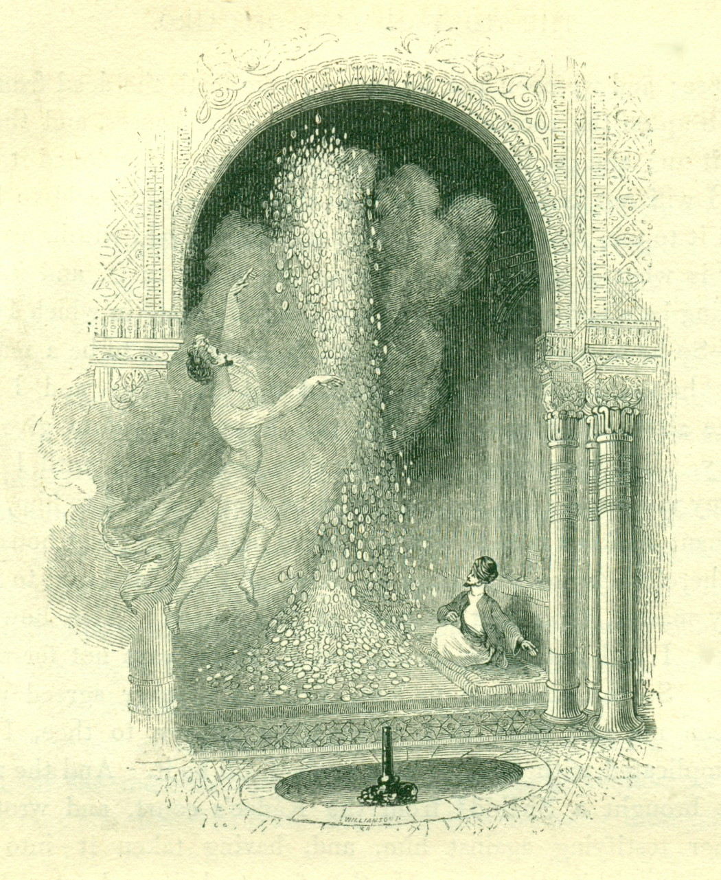 Illustration to The Story of Alee of Cairo from the Arabian Nights. Design by William Harvey
